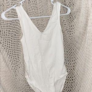 White tank body suit